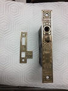 Antique Brass Reversable Mortise Door Latch Catch East Lk