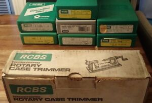 RCBS Reloading Dies & RCBS Rotary Case Trimmer Lot