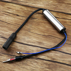 Deluxe Inline Antenna Aerial Radio Vehicle Am Fm Signal Amp Amplifier Booster