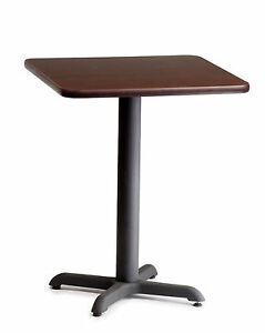 Restaurant Commercial Double Sided Laminate Square Table 24x24 Pub Iron Base