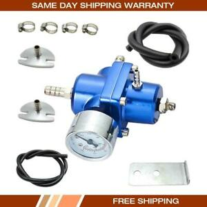 High Quality Adjustable Fuel Pressure Regulator With Gauge Hose Kit Bule