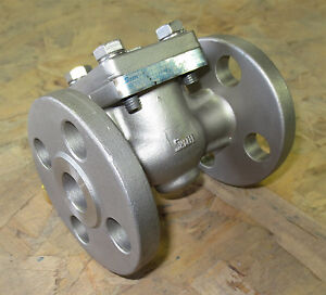 1 2 Sharpe 25116 Stainless Steel 316 Flanged 150 Swg Check Valve