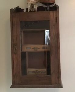 Antique Drugstore Doctors Spencers Medicine Cabinet Apothecary Veterinary