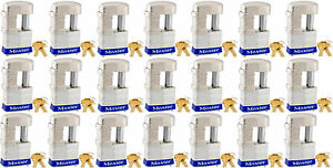 Lock Set By Master 37ka lot Of 21 Keyed Alike Shrouded Laminated Padlocks New