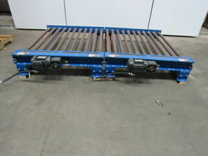 Powered Roller Pallet Box Conveyor 46 Inside W 88 1 2 Oal 230 460v Dual Zone