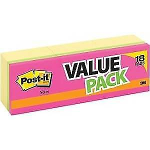 2 Pack Post It Value Pack 36 Pads 3600sheets Total