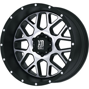 20x10 Black Machined Xd820 6x5 5 24 Wheels Country Hunter Mt 35 Tires
