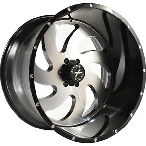20x10 Black Machined Xf1 8x170 19 Rims Country Hunter Mt 35 Tires