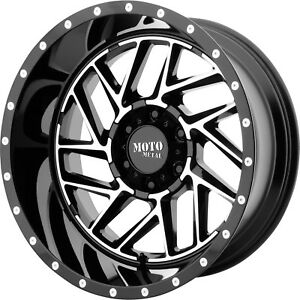 20x10 Black Mo985 8x6 5 18 Wheels Country Hunter Mt 35 Tires