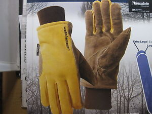 New 6 One Wells Lamont Cold Weather Work Gloves 6pair Suede Cowhide Leather