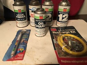R 12 Refrigerant 4 14oz Cans Sercon And Oil Charge Can Recharge Kit Usa