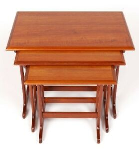 Vintage Danish Modern Teak Nested Side Tables