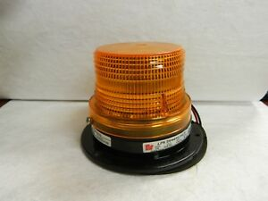 Federal Signal Amber Low Profile Mini Strobe Light 12 To 48 Vdc Lp6 012 048a