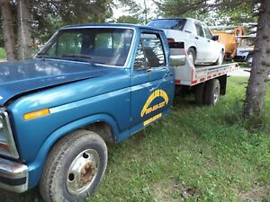 1985 Ford F 350 Rollback With Rear Car Lift