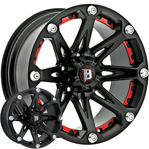 20x9 Black Ballistic Jester 6x135 12 Rims Open Country Mt 35 Tires