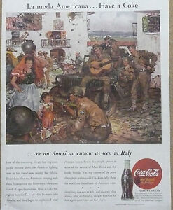 Coca-Cola Ad  WWII Print Ad  1945 Willys Jeep