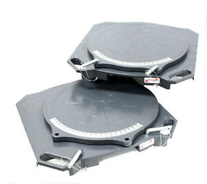 One Pair Aluminum Turntable Wheel Alignment 360 Rotating Turn Plate Table 4 Ton