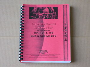Jensales Service Manual For Ih International 154 Cub Lo boy 184 185