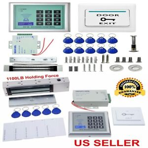 New 1100 Lbs Kit Electromagnetic Magnetic Electric Door Lock Access Control Hs