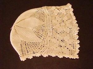 Antique Crocheted Baby Bonnet Cap Hat