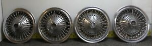 Oem Set Of 4 15 Wire Type Hub Caps Wheel Covers 1971 1979 Dodge Plymouth 525