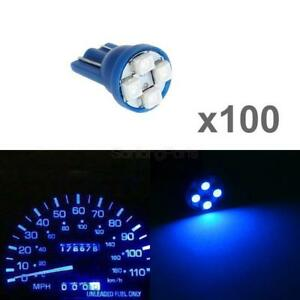 100pcs 194 168 2825 W5w 161 Blue T10 Led Bulb Interior Instrument Cluster Light