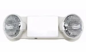 Brand New Hubbell Dual Lite Ez 2 White Commercial Emergency Light Fixture
