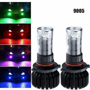 9005 H10 Muti Color Rgb Yellow Ice Blue Red Led Phone Control Wireless Fog Light
