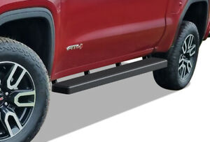 Iboard Running Boards 5 inch Black Fit 19 21 Chevy Silverado Gmc Sierra Crew Cab