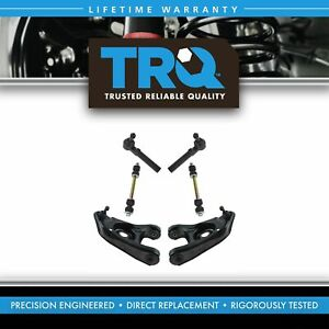 Trq Front Steering Suspension Kit Control Arms Sway Links Tie Rods 6pc New