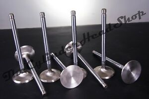 Small Block Chevy Stainless Steel Exhaust Valves 1 60 1 Piece Sbc Stock Length