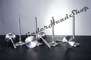 Small Block Chevy Stainless Steel Intake Valves 2 02 1 Piece Sbc 100 Length