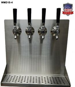 Wall Mount Beer Dispenser 4 Faucets Steel Draft Beer Tower Made In Usa Wmd15 4