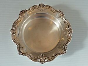 Gorham Chantilly Silver Plated Wine Coaster W Decorative Border
