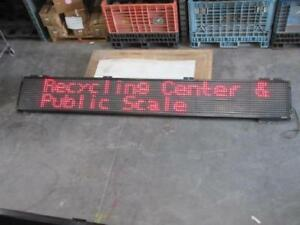 152 X 21 Black Led Programmable Scroll Sign