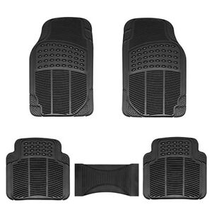 Car Floor Mats Weather Rubber 4pc Set Custom Fit Heavy Duty Extra 1pc Black