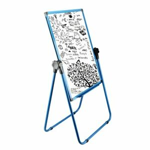 Magnetic Easel Dry Erase Whiteboard Portable Adjustable U stand 25 x35 Blue