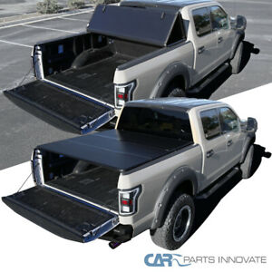 Fit 14 18 Toyota Tundra 6 5ft Bed Pickup Tri fold Hard Secure Tonneau Cover