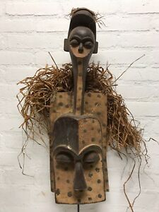 180348 Large Old Tribal Used African Dogon Mask Mali