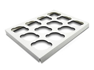 W Packaging Wp1410ci12c 14x10 White white Cupcake Insert With 12 Cavities For In