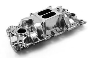 Sbc Chevy Qualifier 1957 95 Dual Plane Intake Polished Pce 147 1015 Clearance
