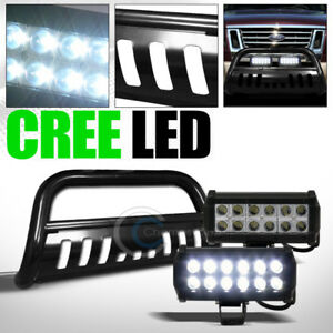 Fits 06 10 Ford Explorer Sport Trac Black Bull Bar Guard Frc 36w Cree Led Lights