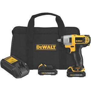 Dewalt 12v Lithium Ion 3 8 Drive Impact Gun Wrench Kit With Battery And Bag