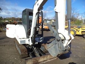 2002 Bobcat 334 Excavator Cab backhoe Thumb Four Buckets One Owmer