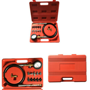 Engine Oil Pressure Test Kit Tester Car Garage Tool Low Oil Warning Device Check