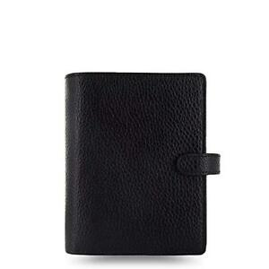 Filofax Finsbury Personal Organiser For Paper 81x120mm Pocket Black Ref 025360