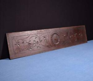 41 French Antique Hand Carved Architectural Panel Solid Oak Wood Trim