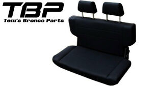 1966 1977 Early Ford Bronco Fold And Tumble Rear Bench Seat 40 Black Nice New