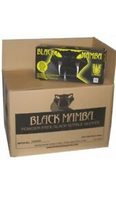 3 Black Mamba Disposal Nitrile Gloves 100 Count Large Blk 120 Mechanic Gloves