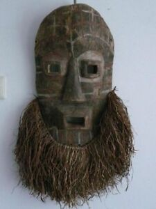 170506 Old Tribal Used Large African Dogon Mask Mali